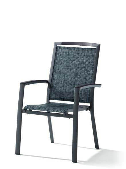 sieger trento stapelsessel aluminium textilene eisengrau silbergrau online kaufen beckhuis. Black Bedroom Furniture Sets. Home Design Ideas
