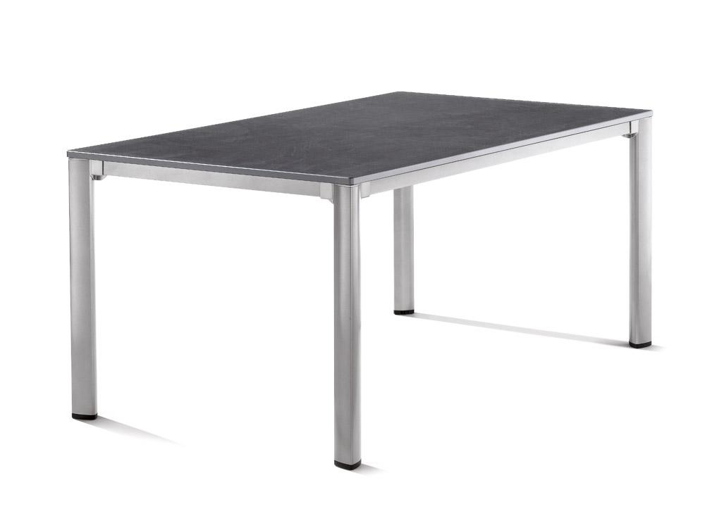 Sieger Gartentisch 165x95cm Aluminium Graphit Schiefer Anthrazit