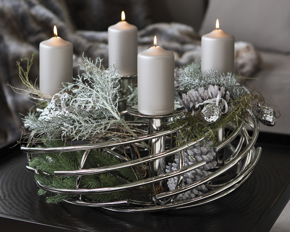 fink corona leuchter dekokranz 4 flammig ebay. Black Bedroom Furniture Sets. Home Design Ideas
