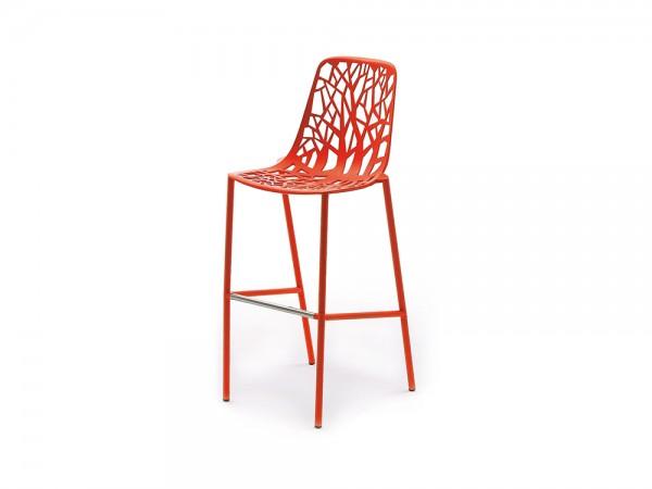 Fast Forest Barhocker Sitzhöhe 65 cm, hohe Rückenlehne