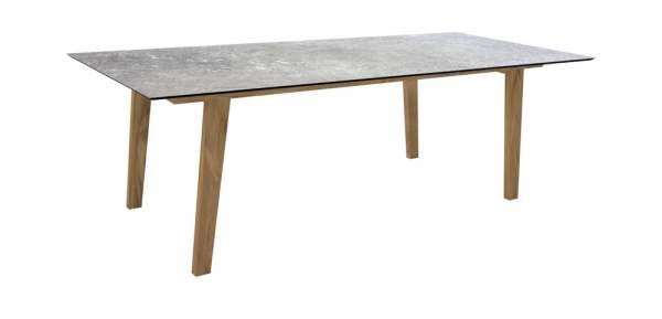 Stern Interno Tisch Teak 220x100 cm mit Tischplatte Silverstar 2.0