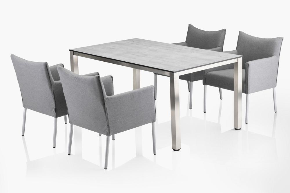 kettler fino dining sessel aluminium sunbrella online. Black Bedroom Furniture Sets. Home Design Ideas