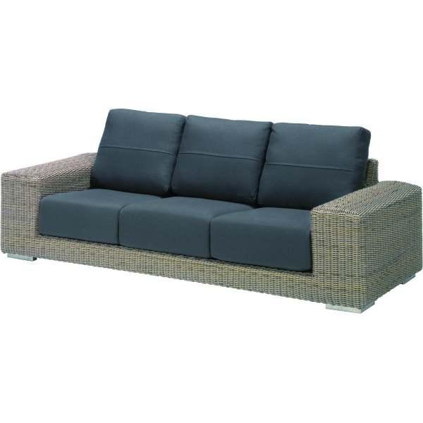 4Seasons Kingston 3 -Sitzer Sofa Pure inkl. 6 Kissen