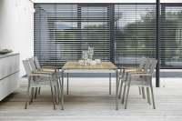 Stern New Top Gartenmöbelset 8tlg. mit Gartentisch Old Teak 200x100 cm