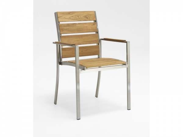 niehoff nina stuhl edelstahl teak teak geb rstet online. Black Bedroom Furniture Sets. Home Design Ideas