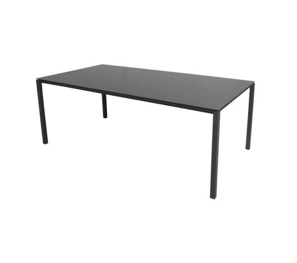 Cane-Line Pure Tisch 200x100 cm Aluminium/Keramik