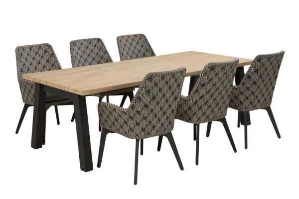 4Seasons Savoy Gartenmöbel Set 7tlg. mit Derby Tisch