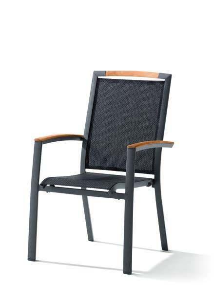 Sieger Catena Stapelsessel Aluminium/Textilene