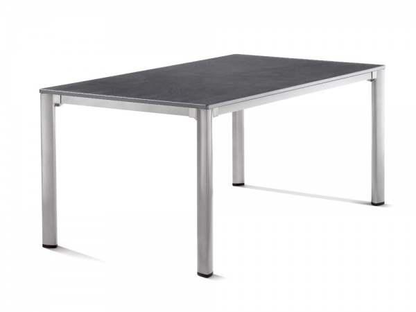 Sieger Gartentisch 165x95cm Aluminium Graphit/Schiefer Anthrazit