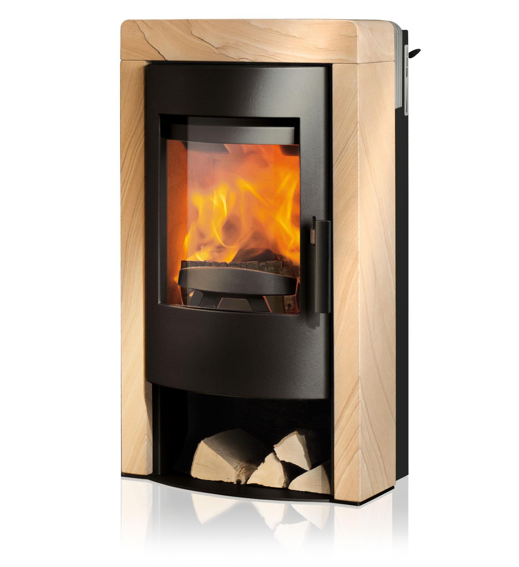 rika kaminofen fox ii sandstein online kaufen beckhuis. Black Bedroom Furniture Sets. Home Design Ideas