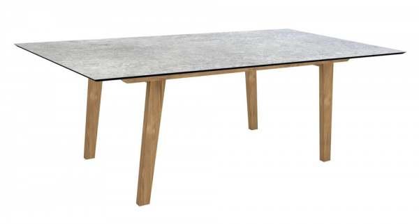 Stern Interno Tisch Teak 180x100 cm mit Tischplatte Silverstar 2.0
