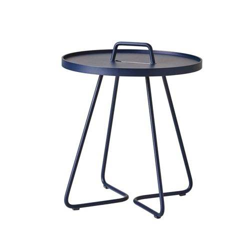 Cane-Line On-the-move Beistelltisch klein Midnight blue, Aluminium