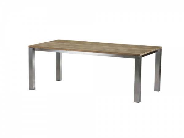 diamond garden piero tisch edelstahl recycled teak 200x100 cm. Black Bedroom Furniture Sets. Home Design Ideas