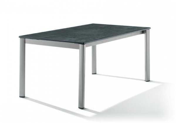 sieger ausziehtisch 165 225 285x95cm gestell graphit tischplatte beton dunkel ebay. Black Bedroom Furniture Sets. Home Design Ideas