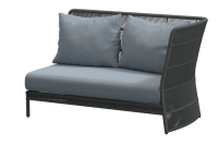 4Seasons Orient 2-Sitzer Platinum links, inkl. 3 Kissen