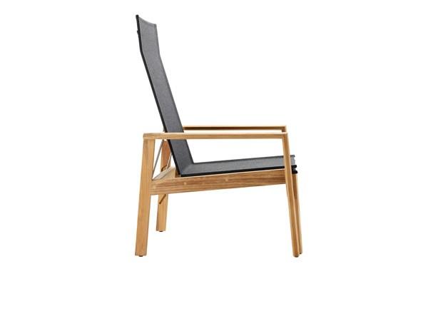 Solpuri Safari Deck Chair, inkl. Hocker Teak/Softex coal
