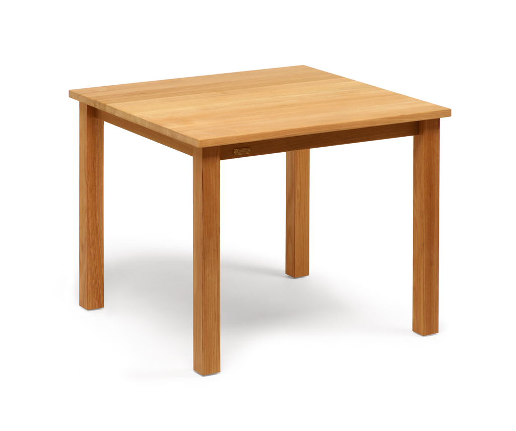 weish upl cabin tisch teak 90x90 cm einfach und g nstig. Black Bedroom Furniture Sets. Home Design Ideas