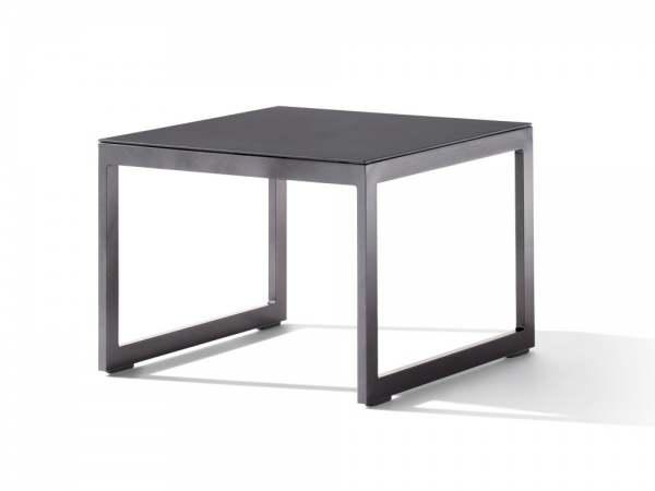 Sieger Loungetisch mit Glasplatte 60x60x44 cm