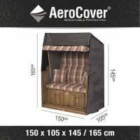 Aerocover XL Schutzhülle für Strandkörbe 150x105x165/145 cm