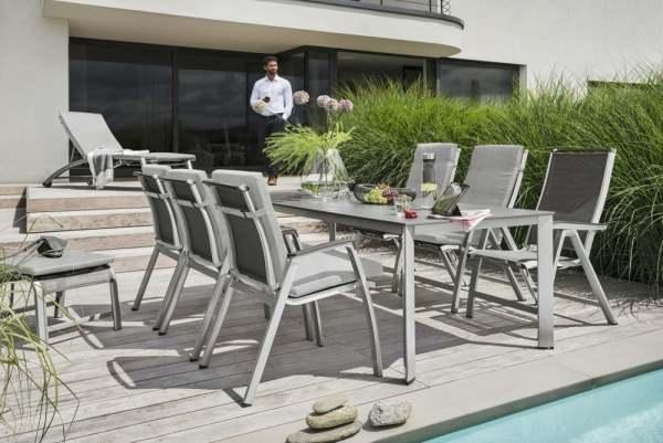 kettler forma gartenm bel set 6 tlg mit liege edge. Black Bedroom Furniture Sets. Home Design Ideas