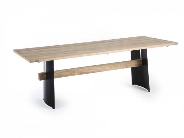 Niehoff Brava Designtisch Metall/Teak