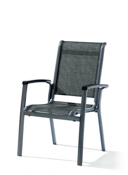 Sieger Calvi Stapelsessel Aluminium/Textilene