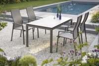 Stern Kari Gartenmöbelset 6tlg. mit Gartentisch 160x90 cm