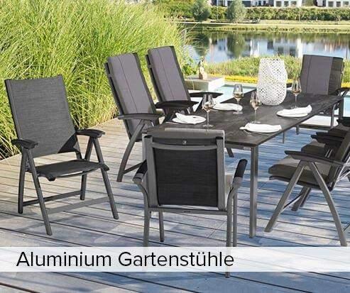 Aluminium Gartenstühle