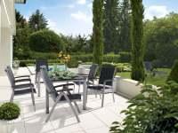 Sieger Royal Gartenmöbel Set 7-tlg. inkl. Gartentisch 165x95 cm Aluminium/Vivodur