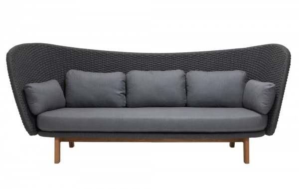 Cane-Line Peacock Wing 3-Sitzer Sofa inkl. Kissensatz