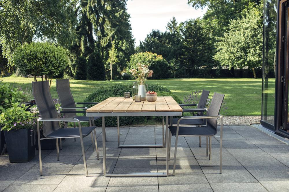 kettler feel gartenm bel set 6 tlg mit tisch 160x95 cm. Black Bedroom Furniture Sets. Home Design Ideas