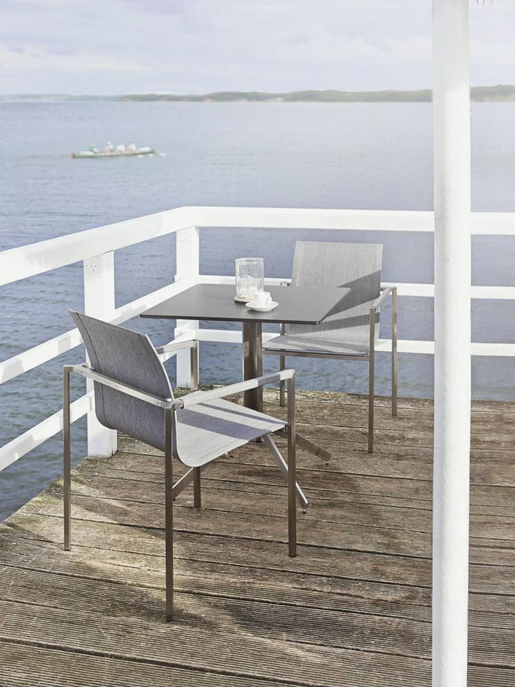 solpuri yix klapptisch edelstahl keramik brick beige 70x70 cm online kaufen beckhuis. Black Bedroom Furniture Sets. Home Design Ideas