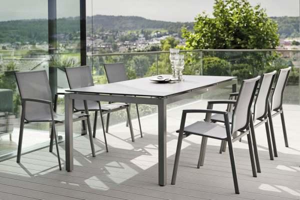 Stern New Top Gartenmöbelset 8tlg. mit Aluminium Tisch 200x100 cm
