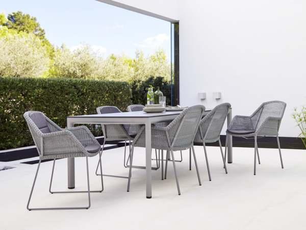 Cane-Line Breeze Gartenmöbel Set 7-tlg. mit Drop Esstisch