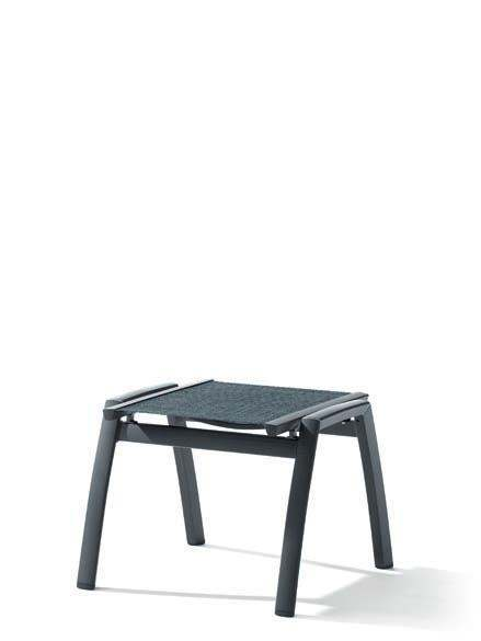 Sieger Trento Hocker Aluminium/Textilene