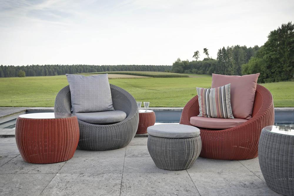 stern anny beistelltisch geflecht mit glasplatte basaltgrau online kaufen beckhuis. Black Bedroom Furniture Sets. Home Design Ideas