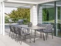 Stern Vanda Dining Gartenmöbelset 7tlg. mit Tisch 220x100 cm Vintage Stone Anthrazit