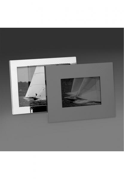 Robbe & Berking Bilderrahmen schraffiert 13x18cm 925 Sterling-Silber