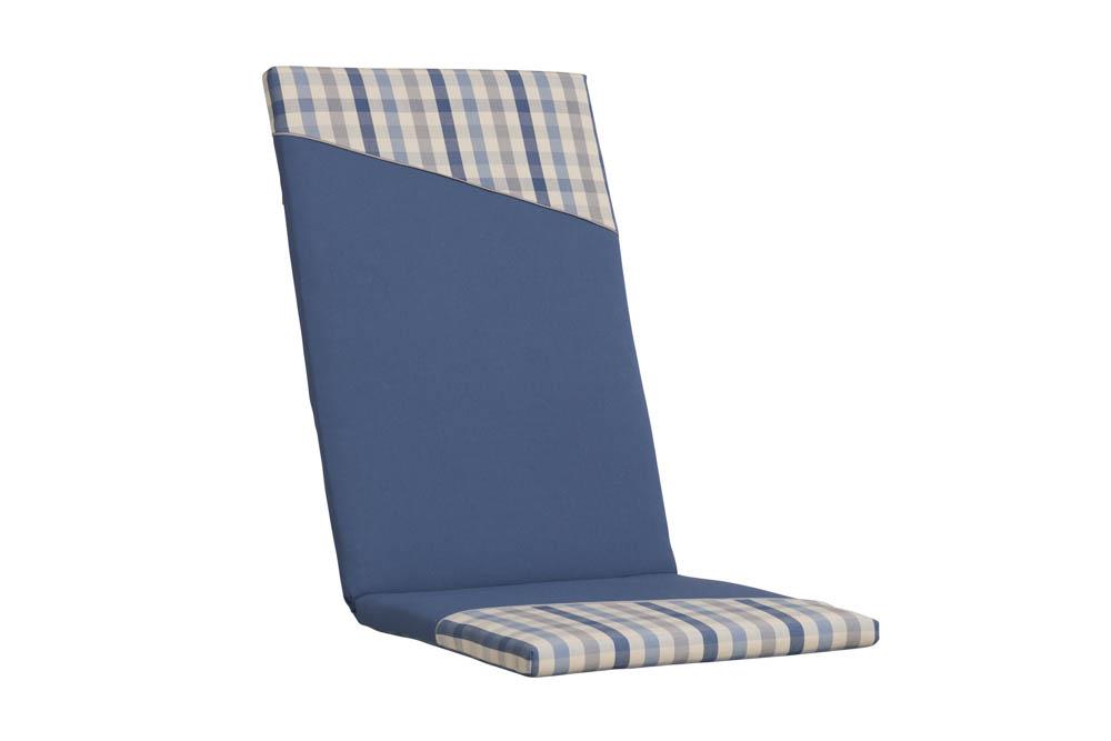 Kettler KTH 15 Polsterauflage Dessin 901 Uni Jeansblau mit Minikaro ...