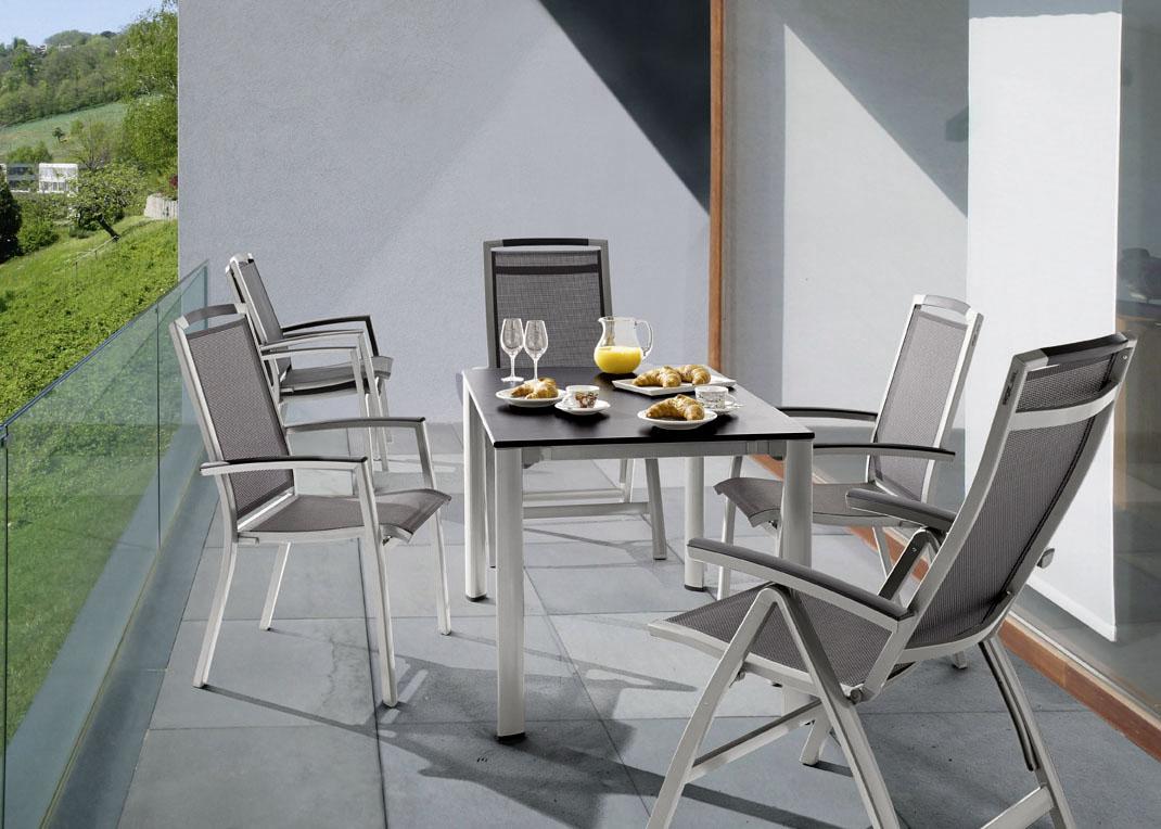 sieger trento stapelsessel graphit grau ebay. Black Bedroom Furniture Sets. Home Design Ideas