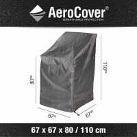 Aerocover Schutzhülle für Stapelstühle 67x67xH80/110 cm