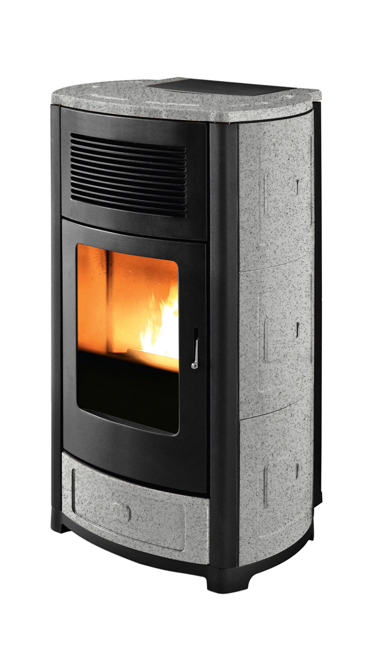 mcz suite comfort air 14 pelletofen keramik salt and pepper online kaufen beckhuis. Black Bedroom Furniture Sets. Home Design Ideas