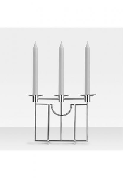 Robbe & Berking 3-lichtiger Leuchter Sphinx 925 Sterling-Silber