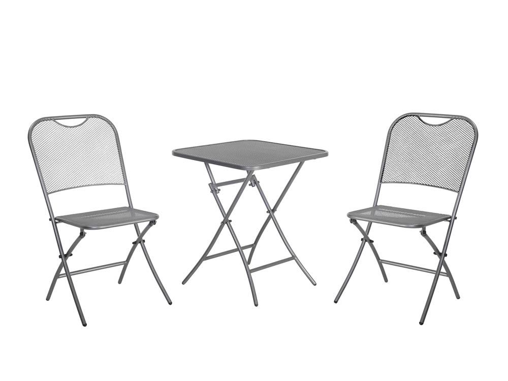 mwh caf latte bistro set aus streckmetall eckig online kaufen beckhuis. Black Bedroom Furniture Sets. Home Design Ideas