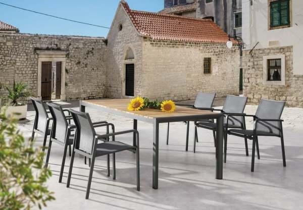 Best Rhodos Gartenmöbel Set 7-tlg. mit Tisch Paros