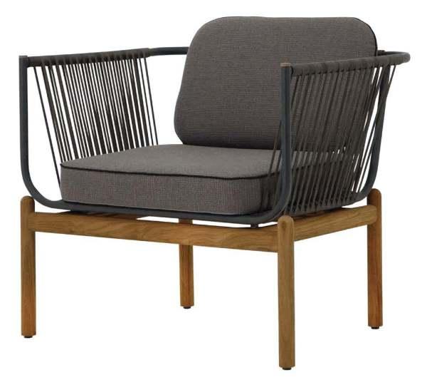 Zebra Pollux Lounge 1-Sitzer Aluminium/Teak