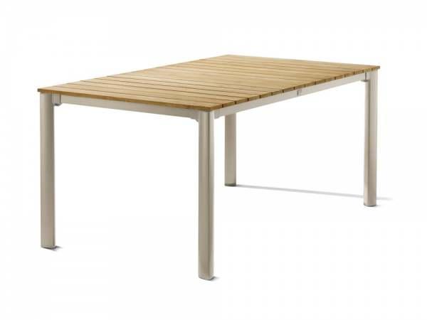 Sieger Gartentisch 165x95 cm Aluminium/Tischplatte Teak