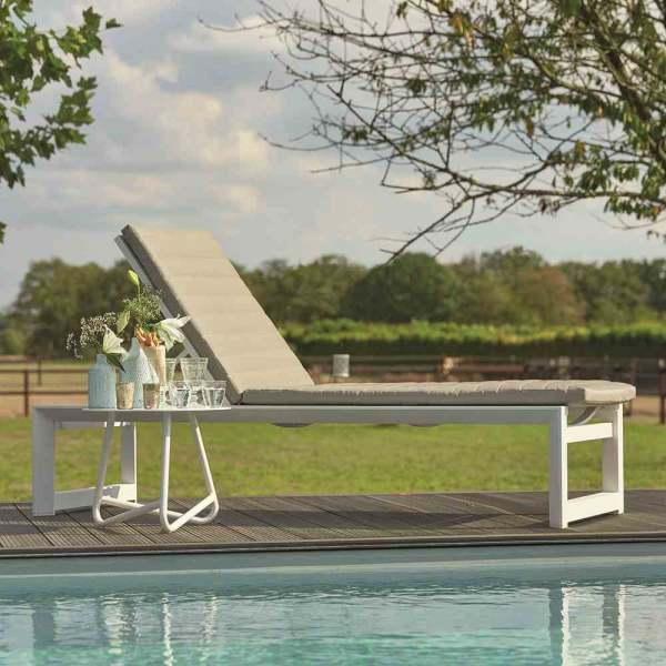 LIFE Outdoor Living Delta Rollliege hoch weiß Aluminium weiß