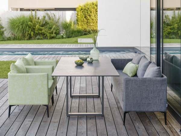 Stern Marta Gartenmöbelset 4tlg. mit Aluminium Tisch 160x90 cm