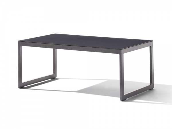 Sieger Loungetisch mit Glasplatte 110x60x44 cm